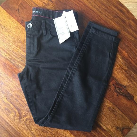 Banana Republic Denim - Banana Republic skinny jeans black petite 28p nwt